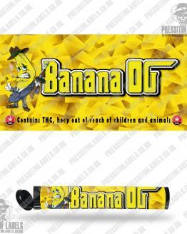 Banana OG Type 2 Pre Roll Labels