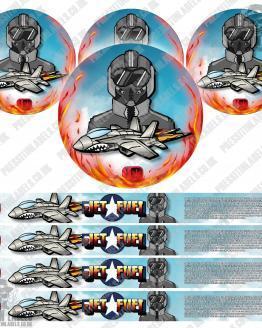 Jet Fuel Pressitin Labels