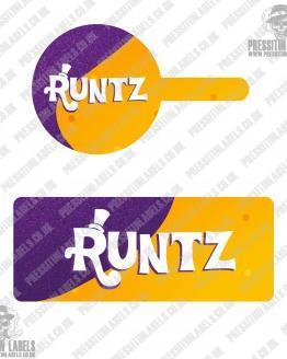 Runtz Tamper Proof Jar Labels