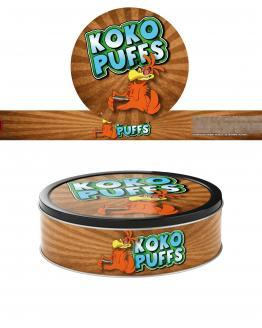 Koko Puffs Pressitin Labels